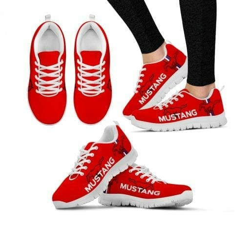Ford Mustang Running Shoes Red