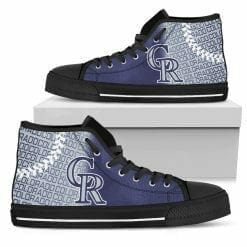 MLB Colorado Rockies High Top Shoes