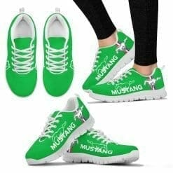Ford Mustang Running Shoes Green