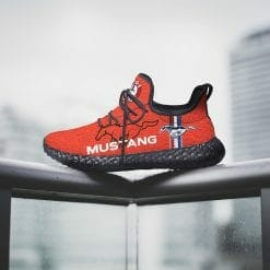 Ford Mustang Yeezy Boost Black Sneakers Red
