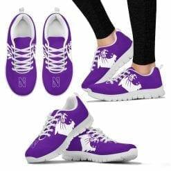 NCAA Northwestern Wildcats Running Shoes