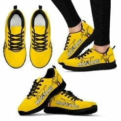 Ford Mustang Running Shoes Yellow