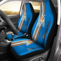 MLB Miami Marlins Pair of Car Seat Covers