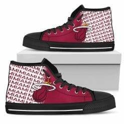 NBA Miami Heat High Top Shoes
