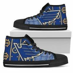 NHL St. Louis Blues High Top Shoes