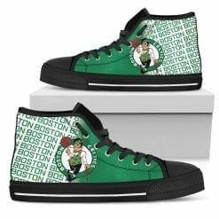 NBA Boston Celtics High Top Shoes