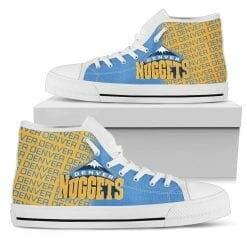 NBA Denver Nuggets High Top Shoes