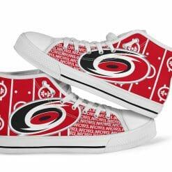 NHL Carolina Hurricanes High Top Shoes