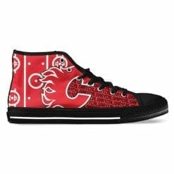 NHL Calgary Flames High Top Shoes