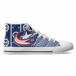 NHL Columbus Blue Jackets High Top Shoes