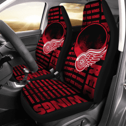 NHL Detroit Red Wings Pair of Car Seat Covers
