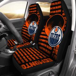 NHL Edmonton Oilers Pair of Car Seat Covers