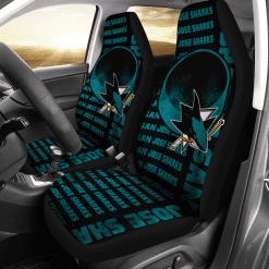 NHL San Jose Sharks Pair of Car Seat Covers