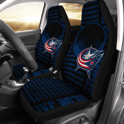 NHL Columbus Blue Jackets Pair of Car Seat Covers