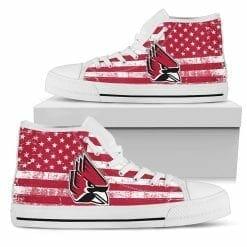 NCAA Ball State Cardinals High Top Shoes