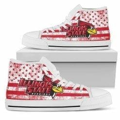NCAA Illinois State Redbirds High Top Shoes