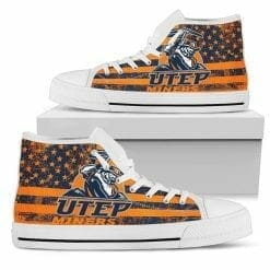 NCAA UTEP Miners High Top Shoes