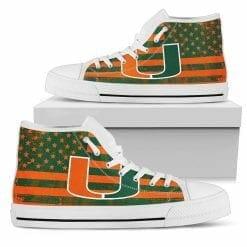 NCAA Miami Hurricanes High Top Shoes