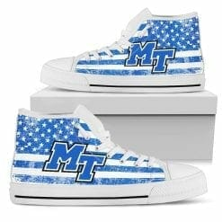 NCAA Middle Tennessee State Blue Raiders High Top Shoes