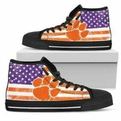 NCAA Clemson Tigers High Top Shoes