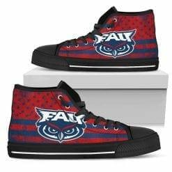 NCAA Florida Atlantic Owls High Top Shoes