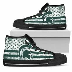 NCAA Michigan State Spartans High Top Shoes
