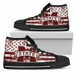 NCAA Mississippi State Bulldogs High Top Shoes