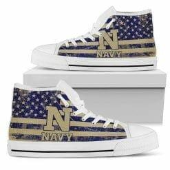 NCAA Navy Midshipmen High Top Shoes
