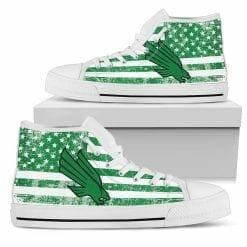 NCAA North Texas Mean Green High Top Shoes