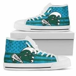 NCAA Tulane Green Wave High Top Shoes