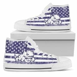 NCAA TCU Horned Frogs High Top Shoes