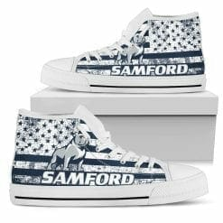 NCAA Samford Bulldogs High Top Shoes