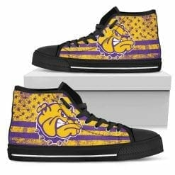 NCAA Western Illinois Leathernecks High Top Shoes