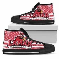 NCAA Lamar Cardinals High Top Shoes
