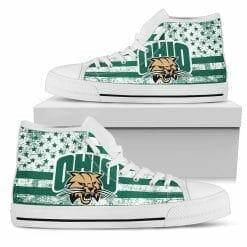 NCAA Ohio Bobcats High Top Shoes