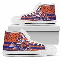 NCAA Savannah State Tigers High Top Shoes