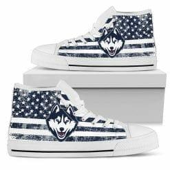 NCAA Connecticut Huskies High Top Shoes