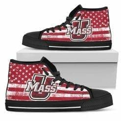 NCAA UMass Minutemen High Top Shoes