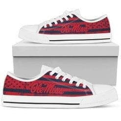 NCAA Ole Miss Rebels Low Top Shoes