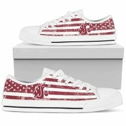 NCAA Washington State Cougars Low Top Shoes