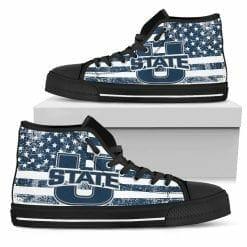 NCAA Utah State Aggies High Top Shoes