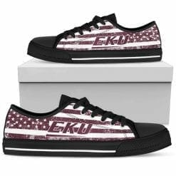 NCAA Eastern Kentucky Colonels Low Top Shoes