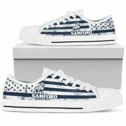 NCAA Samford Bulldogs Low Top Shoes