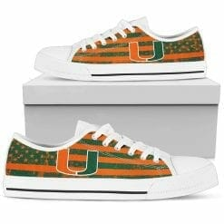 NCAA Miami Hurricanes Low Top Shoes