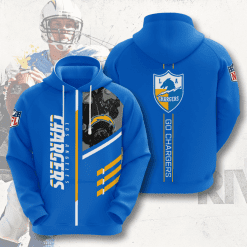NFL Los Angeles Chargers 3D Hoodie V1