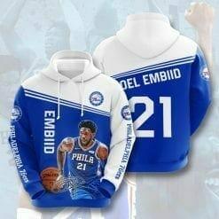 NBA Philadelphia 76ers 3D Hoodie V1