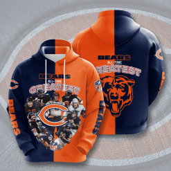 NFL Chicago Bears 3D Hoodie V1