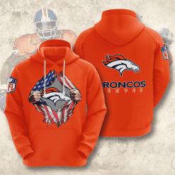 NFL Denver Broncos 3D Hoodie V1