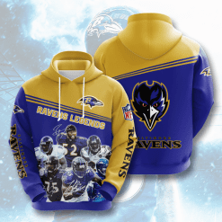 NFL Baltimore Ravens 3D Hoodie V10