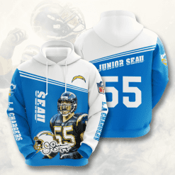 NFL Los Angeles Chargers 3D Hoodie V10